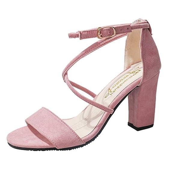 Sandalias para Mujer,RETUROM Zapatos Tacón Alto/Mujer Damas Verano Moda Causal Zapatos Solos Sandalias: Amazon.es: Ropa y accesorios