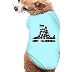 WUGOU Dog Cat Pet Shirt Clothes Puppy Vest Soft Thin Dont Tread On Me 3 Sizes 4 Colors Available