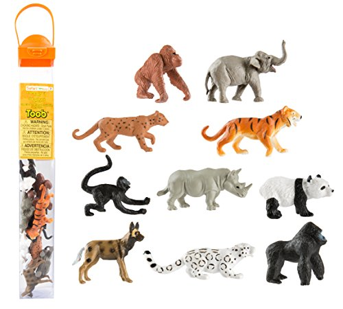 Safari Ltd. TOOB – Endangered Species Land Animals – Realistic Hand Painted Toy Figurine Model – Quality Construction from Phthalate, Lead and BPA Free Materials – For Ages 3 and Up (Collectibles Toob Miniature)