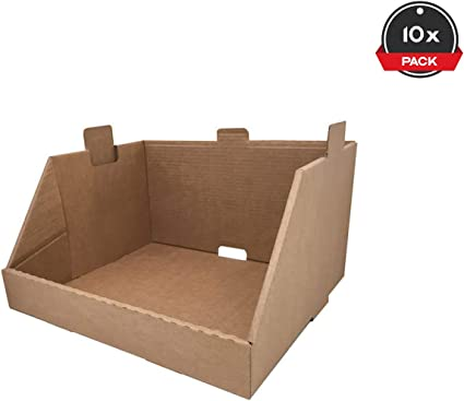 Cajeando | Pack de 10 Cajas de Cartón Expositor Apilable | Tamaño 43,7 x 38,