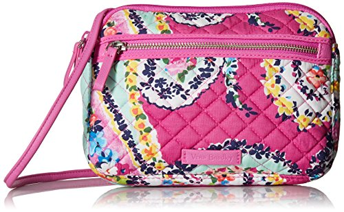 Vera Bradley Iconic Rfid Little Crossbody, Signature Cotton,Wildflower Paisley