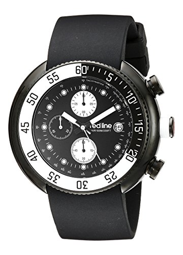 red line Men's 50038-BB-01-WBBZ Driver Chronograph Black Dial Black Silicone Watch (Red Line Chronograph compare prices)