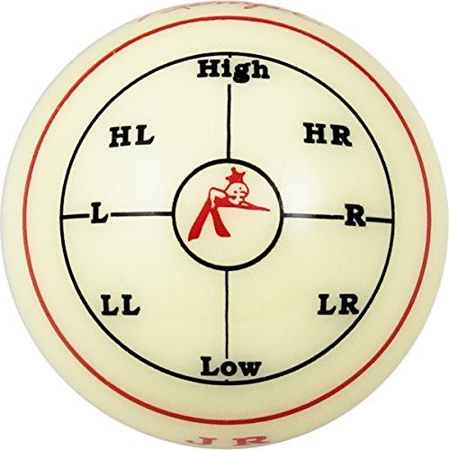Aramith-2-14-Regulation-Size-BilliardPool-Ball-Jim-Rempe-Training-Cue-Ball-with-Instruction-Manual