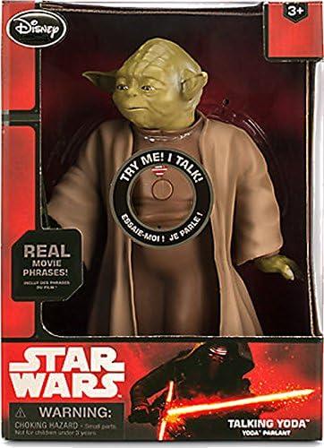 Figurine Disney Yoda parlante, et son sabre lumineux, dans