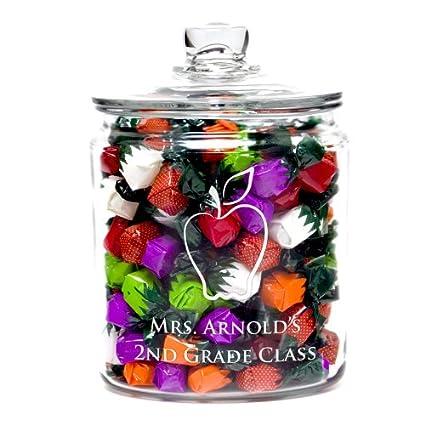 amazon com teacher s personalized candy jar cookie jars kitchen