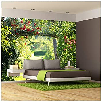 Azutura Rose Garden Wall Mural Green Floral Photo Wallpaper Living Room Bedroom Decor Available In 8 Sizes Large Digital