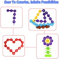 Creative Interlocking Construction Tiles Kit for Kids and Toddlers Over 3 Years Old Zooawa Colorful ZAW-SnowTile-500pcs-170902B-DC-mA Building Blocks 500 Pcs