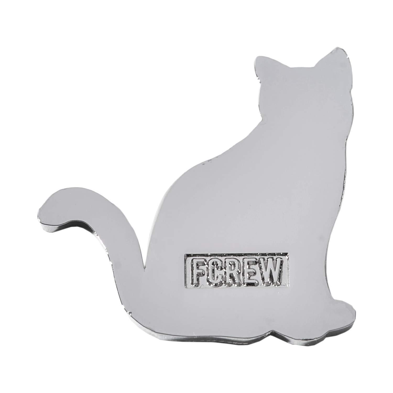 FCREW Metal Cat Emblem Sticker for Car Sitting cat