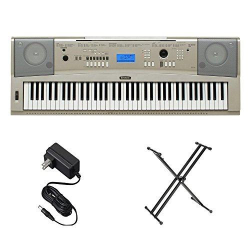 Yamaha YPG235SA 76-Key Portable Grand Keyboard Bundle with Stand & Power Adapter