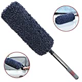 TAKAVU New Car Duster - Multi-Functional Ultra Soft Microfiber Duster with Storage Bag - Long Unbreakable Extendable Handle up to 32 inches - Exterior or Interior Use - Lint Free - Best Car Accessories