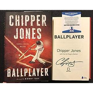 Chipper Jones signed Book Ballplayer 1st Print Braves WS Champ HOF BAS Beckett
