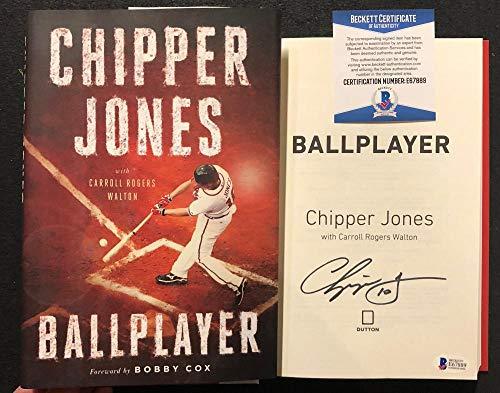 Chipper Jones signed Book Ballplayer 1st Print Braves WS Champ HOF BAS Beckett (Jones Biography Chipper)