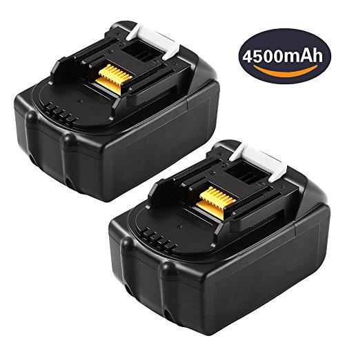 4500mAh 2 Packs BL1845 Replace for Makita 18V Lithium-ion Battery BL1815 BL1830 BL1840 BL1850 BL1860 194205-3 LXT-400 Cordless Drill