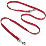 Adjustable Dog Leash, PETBABA European Multifunctional Training Dog Lead for Dogs Red