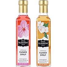Floral Elixir Co. Orange Blossom & Cherry Blossom Elixirs - Syrups for Cocktails & Sodas (2 x 8.5 oz)