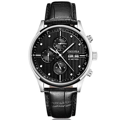 Automatic Ca1094m With Men Calendar Watch Caluola Hands Fashion Day Six Date wN8vmn0O
