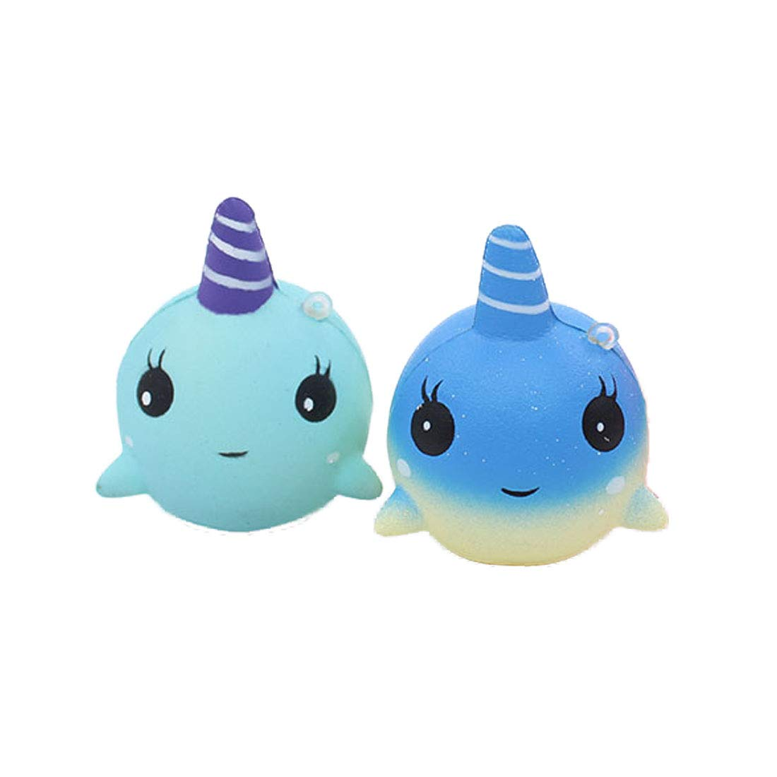 ModFL Squishies Unicorn Jumbo Squishy Slow Rising Squeeze Toys Kawaii Scented Toys Stress Relief Toys Decorative Props Pack of 2