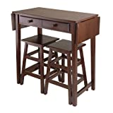 Kitchen Island Table with Stools Winsome Mercer Double Drop Leaf Table with 2 Stools