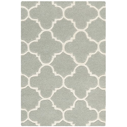 Safavieh Chatham Collection CHT717E Handmade Grey and Ivory Premium Wool Area Rug (2' x 3')