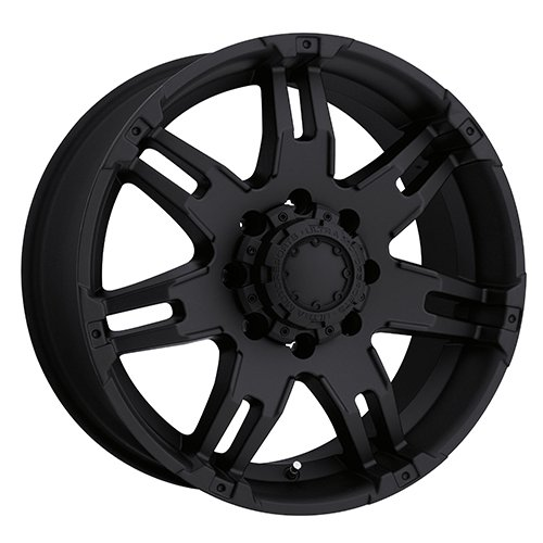 17x9 Black Ultra Gauntlet Wheel 6x5.5 6x139.7 +25 Offset 238-7984B