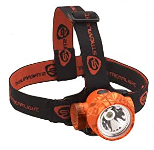 Streamlight 61082 Trident HP Headlamp with 1-White and 3-Green LEDS, Alkaline Batteries and Rubber/Elastic Straps, Realtree Hardwoods Blaze (Orange Camo)