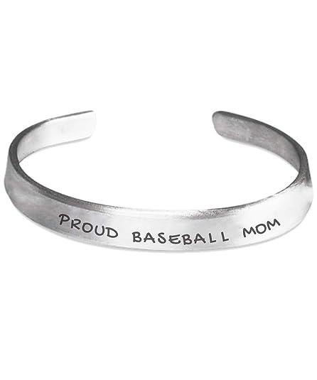 Amazon Proud Baseball Mom Quote on Bracelet Best Gift
