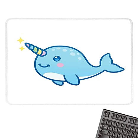 Amazon com : NarwhalCustomize Mouse padCartoon Drawing Style Whale