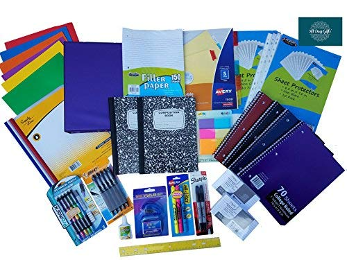 Over 55 Count School Supply Bundle by All Day Gifts, for...