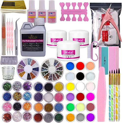 New Professional 42pc Acrylic Powder Nail Art Tips Starter Kit By Xx Shop (ac)