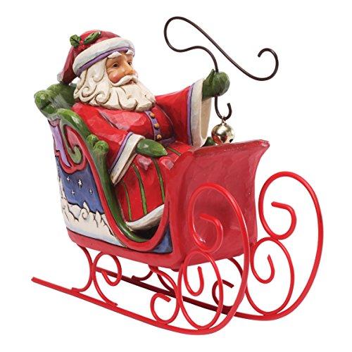 (Jim Shore for Enesco Heartwood Creek Santa in Sleigh Figurine, 6-Inch)