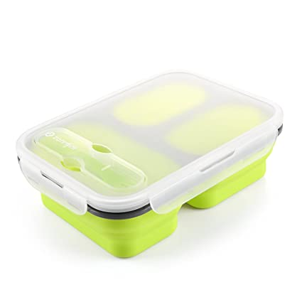 Amazoncom Zanmini Collapsible Silicone Food Container Collapsible