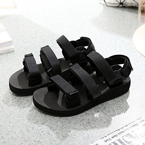 FEI Mädchen Sandalen Schwarz / Rot Sommer Paar Schuhe Strand Schuhe für Jungen und Mädchen Rutschfest ( Farbe : Schwarz , größe : 40 ) Schwarz