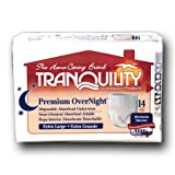 Tranquility Premium OverNight  Disposable Absorbent Underwear, X-Large, Case:56, Health Care Stuffs