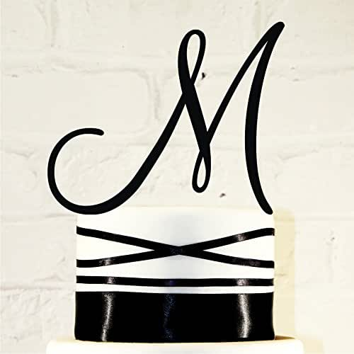 Amazon.com: 6 Inch Monogram Acrylic Wedding Cake Topper