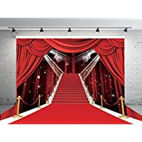 7x5ft Stage Lighting Red Carpet Photo Backdrops CP Customized Studio Background Studio Props RM-032