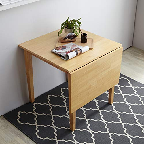 Livinia Medford Solid Hardwood Drop Leaf Dining Table for Small Spaces (Natural)