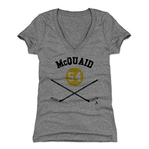 500 LEVEL Adam McQuaid Women's V-Neck Shirt X-Large Tri Gray - Boston Hockey Fan Apparel - Adam McQuaid Boston Sticks K