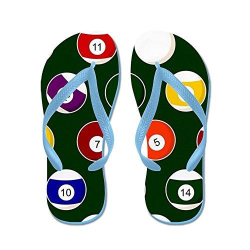 CafePress Green Pool Ball Billiards Pattern - Flip Flops, Funny Thong Sandals, Beach Sandals Caribbean Blue