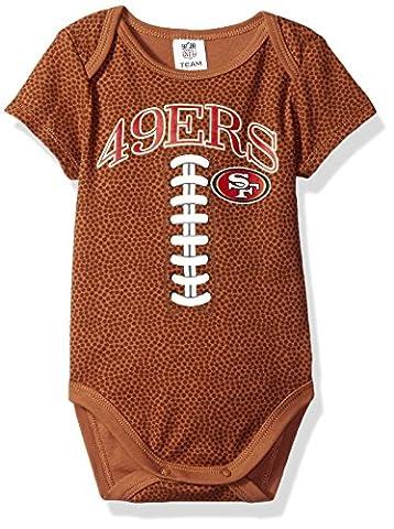 NFL San Francisco 49ers Boys Football Bodysuit, 3-6 Months, Brown - San Francisco 49ers Nfl Football