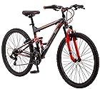 """Mongoose Men's Status 2 Mountain Bicycle, 18""""/Medium, Black"""