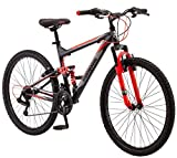 Mongoose Status 2.2 26' Wheel men's bicycle, 18'/medium frame size, black (R5500B)