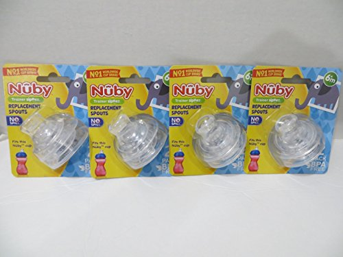 8 Nuby Super Spouts Replacements 10 Oz Fit the Nuby Super Spout Easy Gripper Tall Sippy Cups & Fit the Nuby 8oz 2 Handle Super Spout Cups ONLY