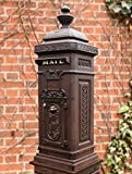 The German Style Tower Mailbox, Rust Brown, Locking