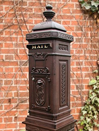 Ecco 8 Tower - The German Style Tower Mailbox, Rust Brown, Locking
