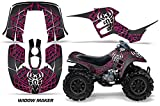 AMR Racing ATV Graphics kit Sticker Decal Compatible with Honda 90 TRX/EX Maier 1993-2005 - Widow Maker Pink