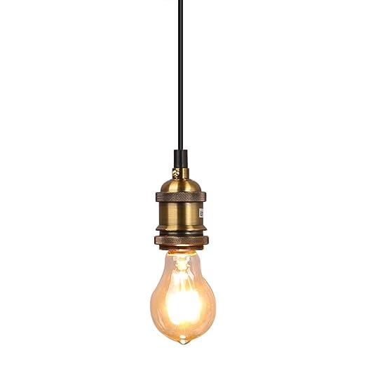 Fuloon Vendimia No Luz Retrobombilla Lámpara Techo Incluida De Pendiente 5R4ALcq3jS
