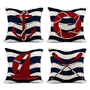 51ywkVDSfYL._SS300_ 100+ Nautical Pillows & Nautical Pillow Covers