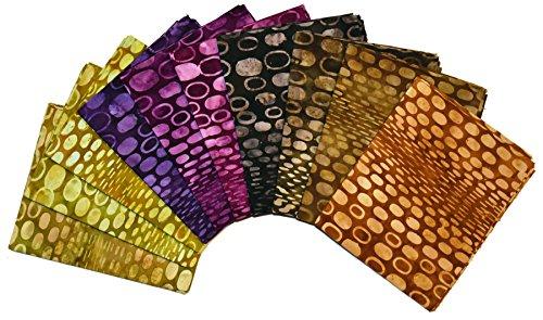 Java Batiks 9 x 44 Premium Batik Strips Pack of 20 5 Yards Total