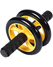 عجلة دوارة لتمارين عضلات البطن مع بساط اضافي سميك للركبة - جهاز تمارين القوة البدنية للجسم، اداة تمرين العضلات بالصالة الرياضية-JSYP16