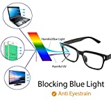 Cyxus Blue Light Blocking Computer Glasses for Anti Eye Strain UV Transparent Lens Black Frame Reading Glass Unisex (Men/Women)